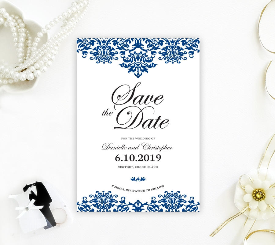 damask save the date cards Wedding Invitations Save The Date