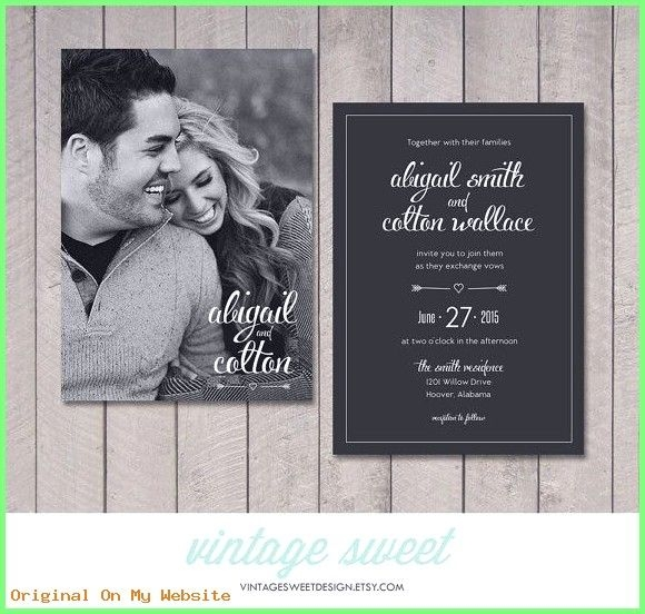 diy wedding invitations this listing includes one or two Two Sided Wedding Invitations