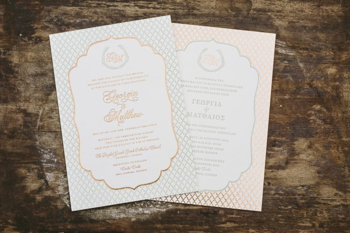 double sided bilingual wedding invitations Two Sided Wedding Invitations