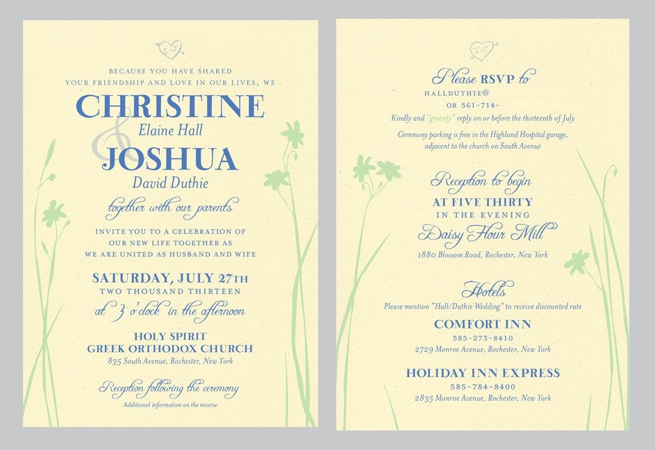 double sided wedding invitations wedding invitation collection Two Sided Wedding Invitations