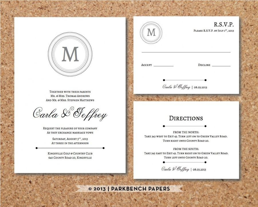 editable wedding invitation rsvp card and insert card Wedding Invitation And Rsvp Packages