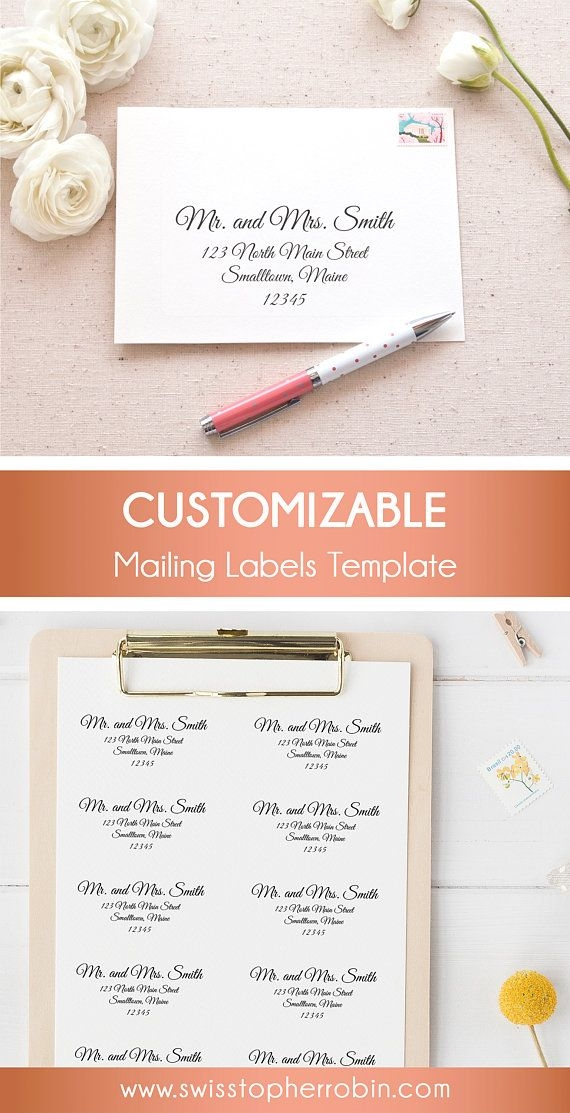 elegant calligraphy printable mailing labels print address Printing Labels For Wedding Invitations