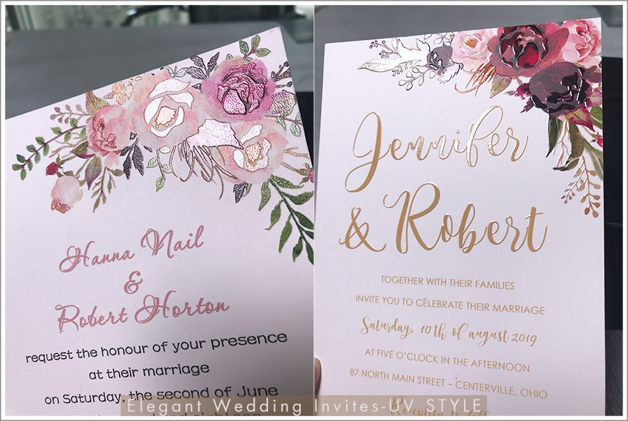 ewi custom full color uv printing wedding invitations Wedding Invitations Printed
