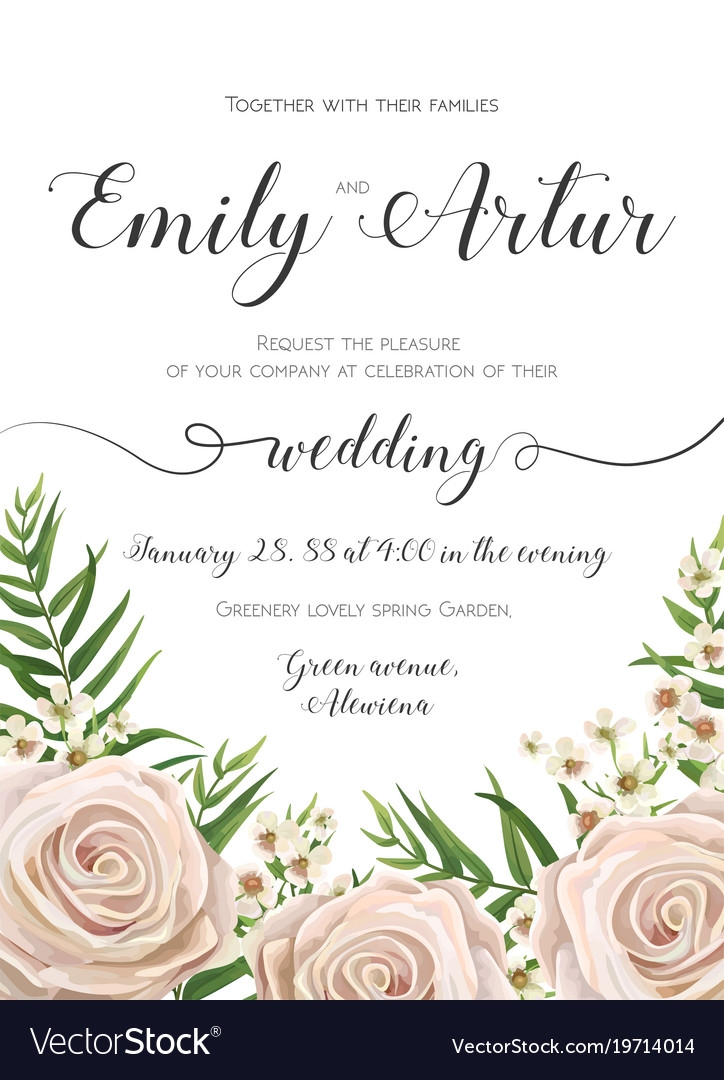 floral wedding invitation card design with flowers Designs For Wedding Invitation