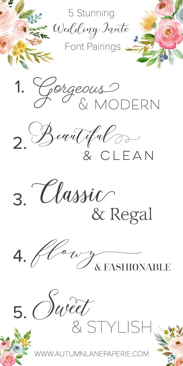 font crush time autumn lane paperie modern wedding Best Calligraphy Fonts For Wedding Invitations