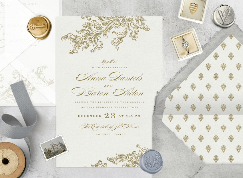 formal wedding invitations designs messaging and etiquette How Big Are Wedding Invitations