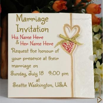 free online wedding invitation card with name maker Online Wedding Invitation Design