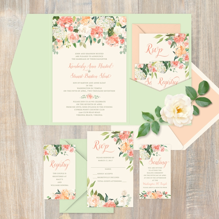 how to assemble the perfect wedding invitation todays bride How To Stuff Wedding Invitations