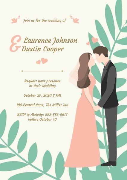 how to design wedding invitation template try it now fotor Creating Wedding Invitations Online