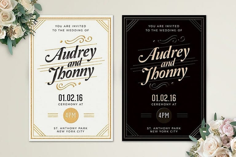 how to design wedding invitations 7 simple steps design shack Designs For Wedding Invitation