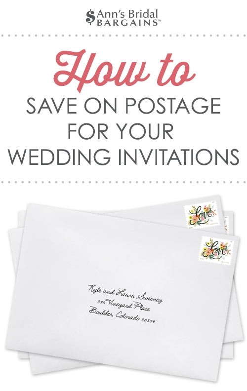 how to save on postage for your wedding invitations Wedding Invitations Postage