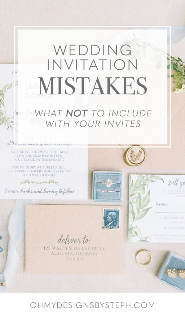 invitation mistakes what not to include on wedding What To Include In Wedding Invitation