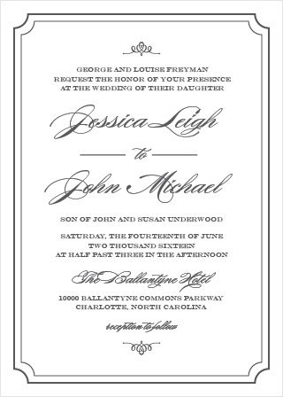 invite guests to your posh event with elegant script wedding Posh Wedding Invitations