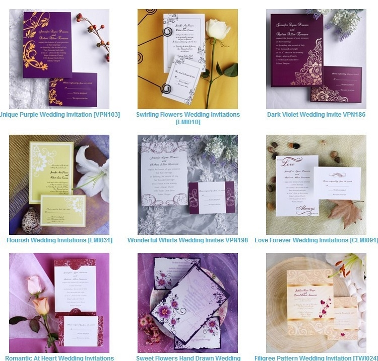 kinds of wedding invitations gregorycustomhomes Different Types Of Wedding Invitations