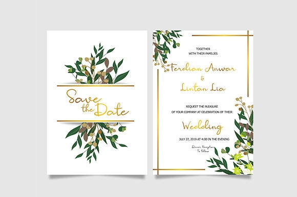 leaf wedding invitation template Wedding Invitation Templets