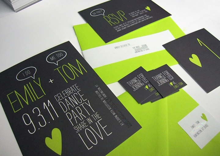letterpress wedding invitations letterpress invitations Lime Green And Black Wedding Invitations