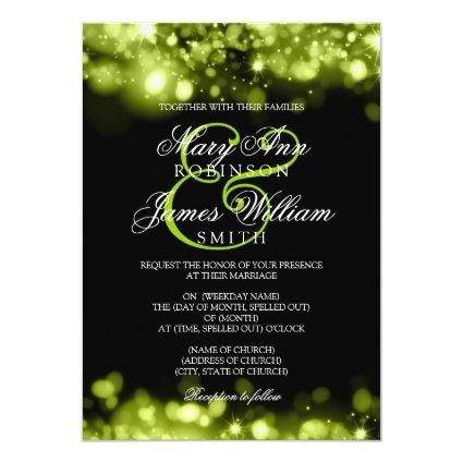 lime save the date cards save the date cards Lime Green And Black Wedding Invitations
