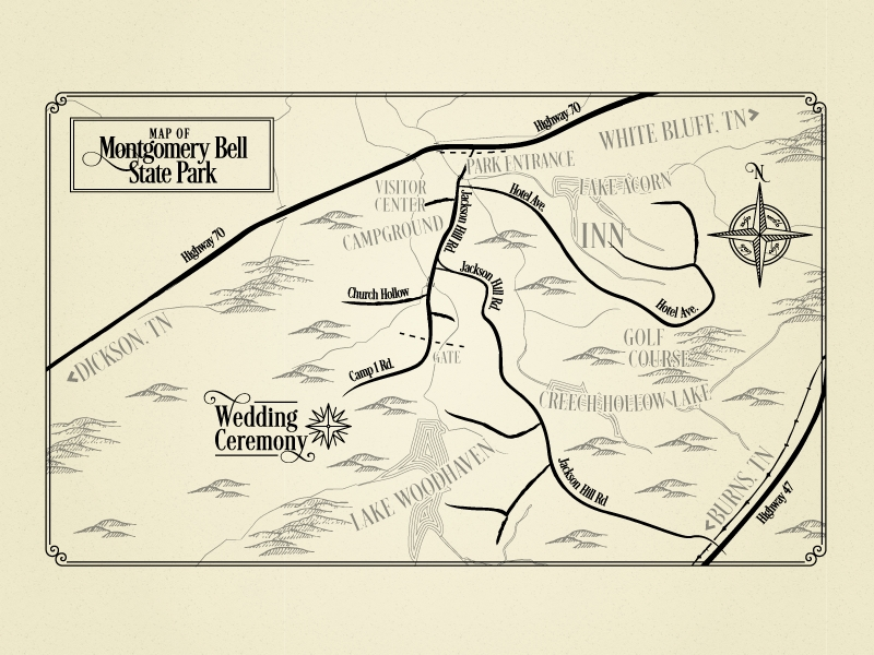 lord of the rings esque wedding invitation map rebecca Wedding Invitation Maps