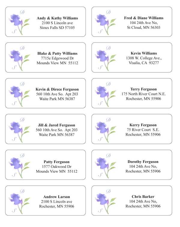 make envelope addressing easier and extra stylish Printing Labels For Wedding Invitations
