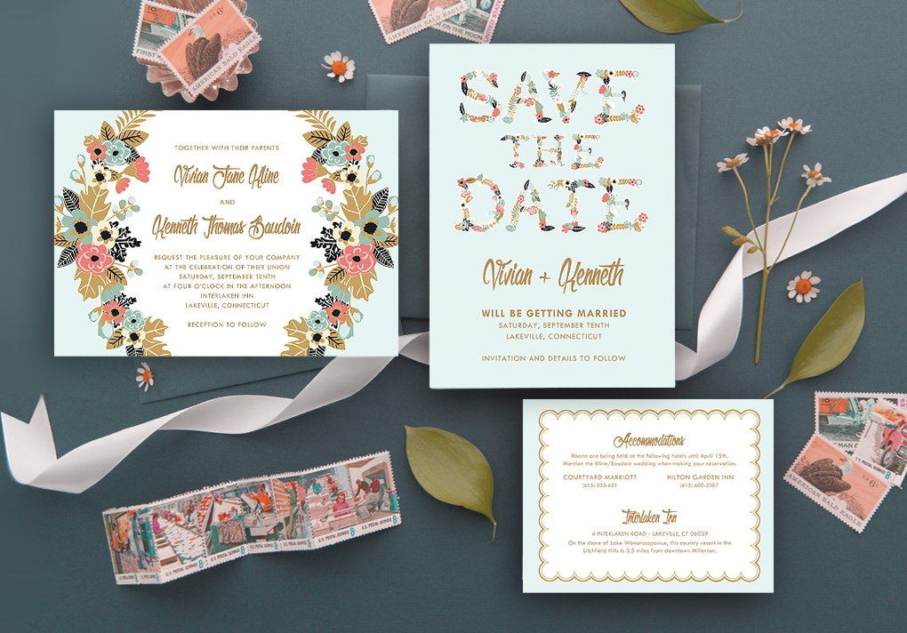 make your own invitations with download print Custom Wedding Invitations Printing