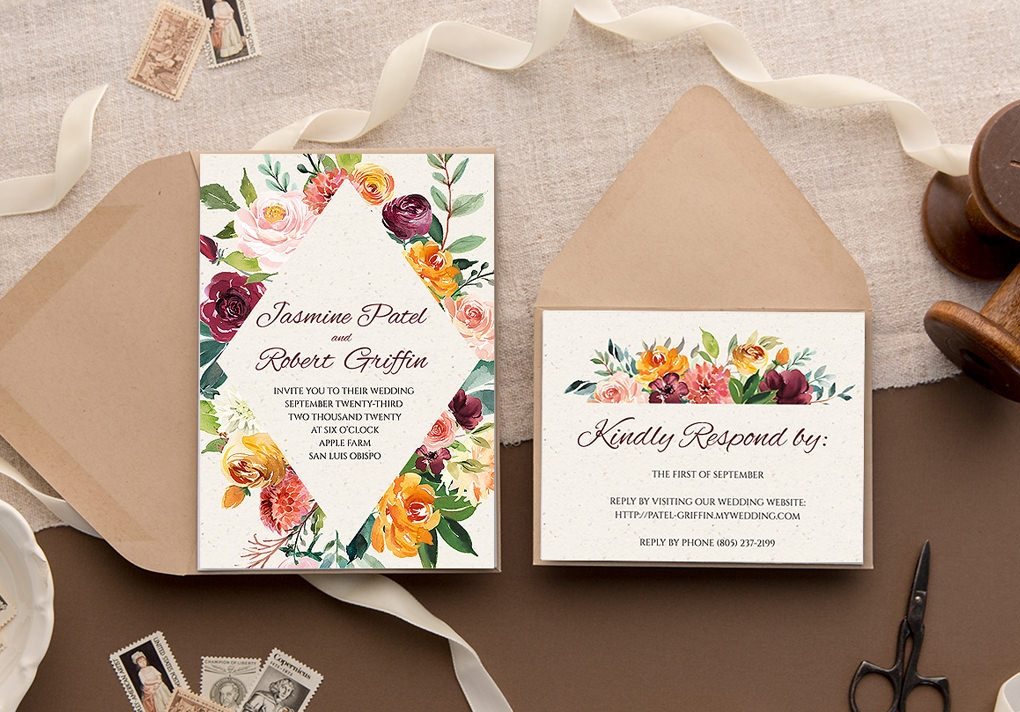 make your own invitations with download print Print Wedding Invitation
