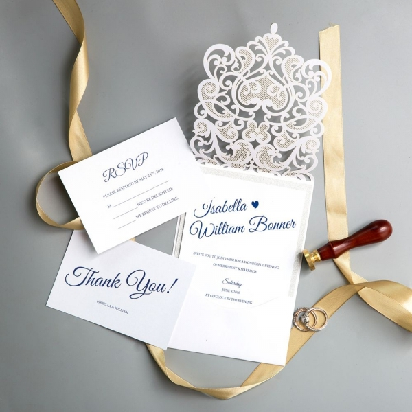 modern floral laser cut wedding invitations with diamante spring white wedding colors affordable wedding invitations ws012 Affordable Wedding Invitation