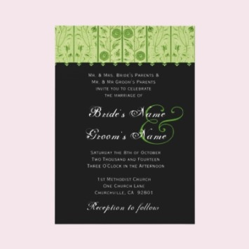 prepare wedding dresses black and white printable wedding Lime Green And Black Wedding Invitations
