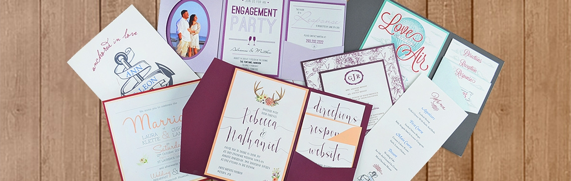 print your own designs you upload we print cards pockets Wedding Invitations Printing Services