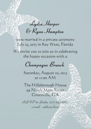 reception invitation wording after a private wedding Post Wedding Dinner Invitation Wording