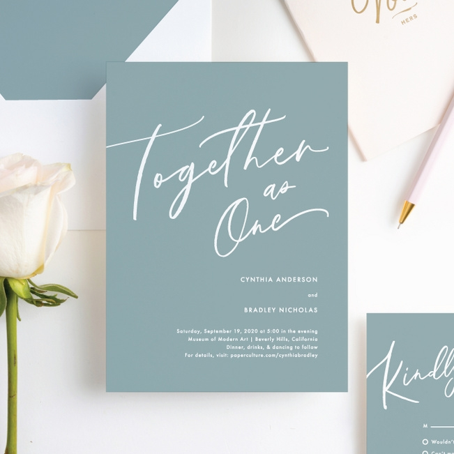 relaxed script Script For Wedding Invitations