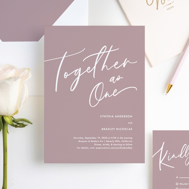 relaxed script Where Do I Get Wedding Invitations