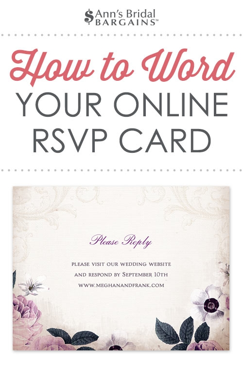 response card wording examples for online rsvps Wedding Invitations Response Cards