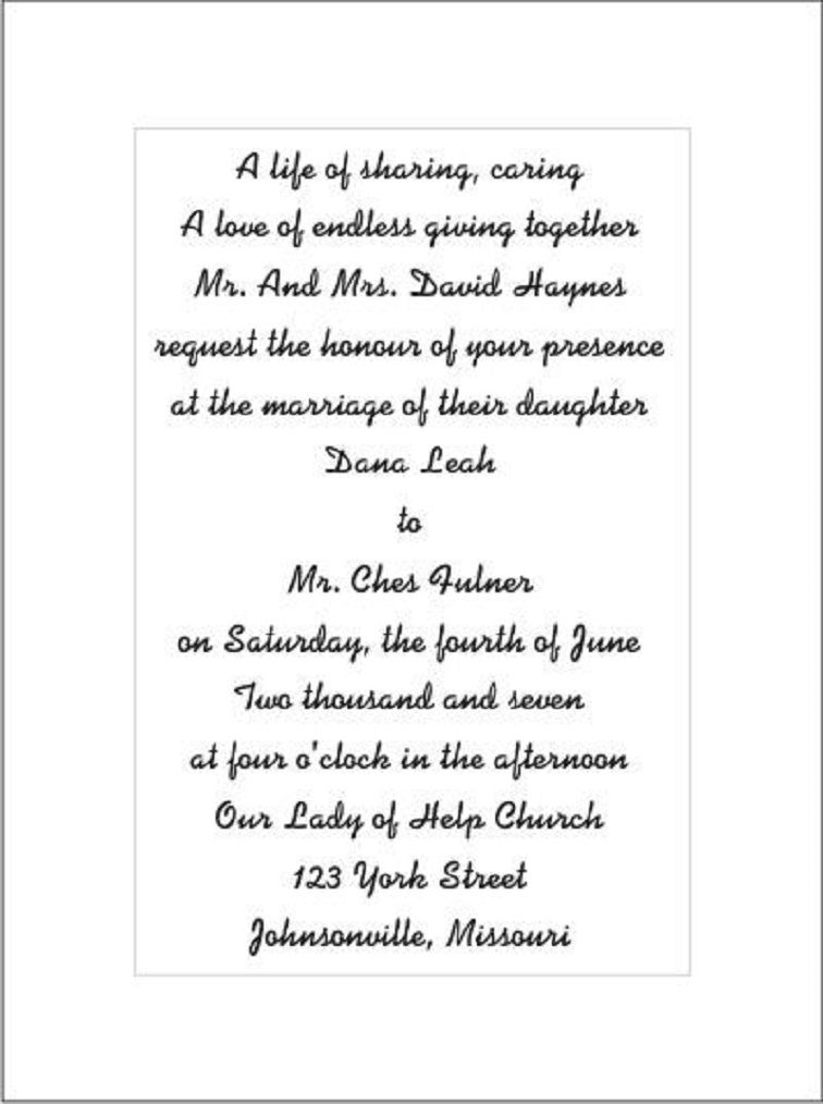 romantic wedding invitation text wedding invitation poems Wedding Invitation Poems