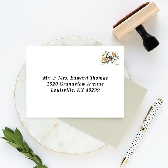 rsvp address stamp for wedding invitation response cards large self inking stamp or wooden stamp with handle for reply cards and envelopes Wedding Invitation Response Cards
