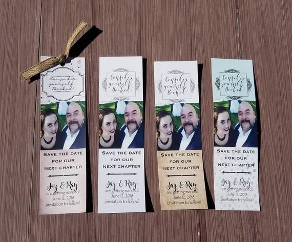 save the date bookmark library book shower invitations bridal shower cards unique wedding invites marriage announcements set of 10 Bookmark Wedding Invitations