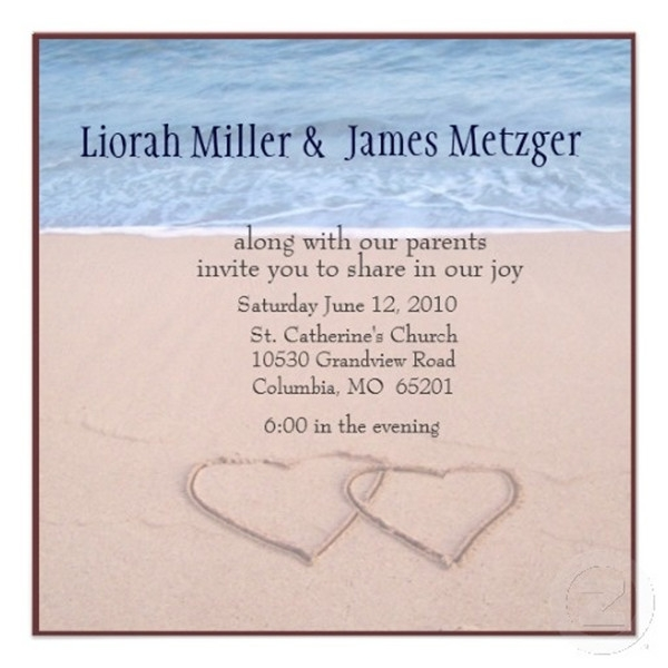 seal and send beach wedding invitations to set the tone for Beach Wedding Invite Wording