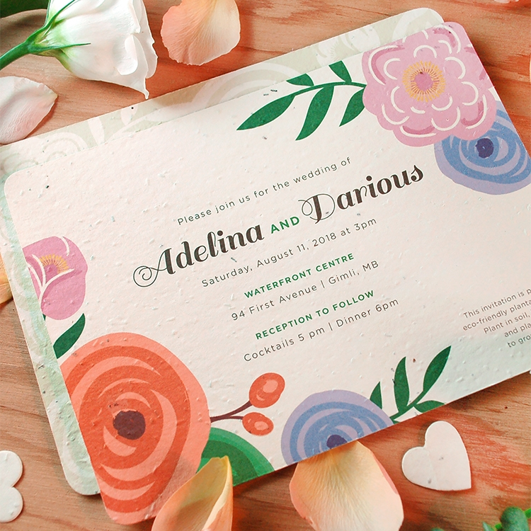 seed paper that grows botanical paperworks Environmentally Friendly Wedding Invitations