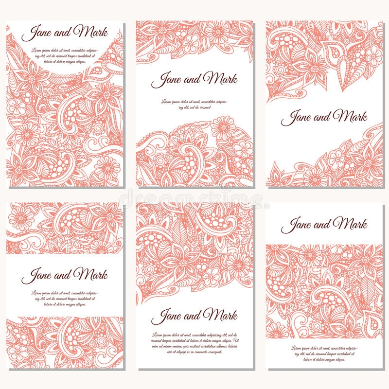 set of wedding invitations wedding cards template with Individual Wedding Invitations