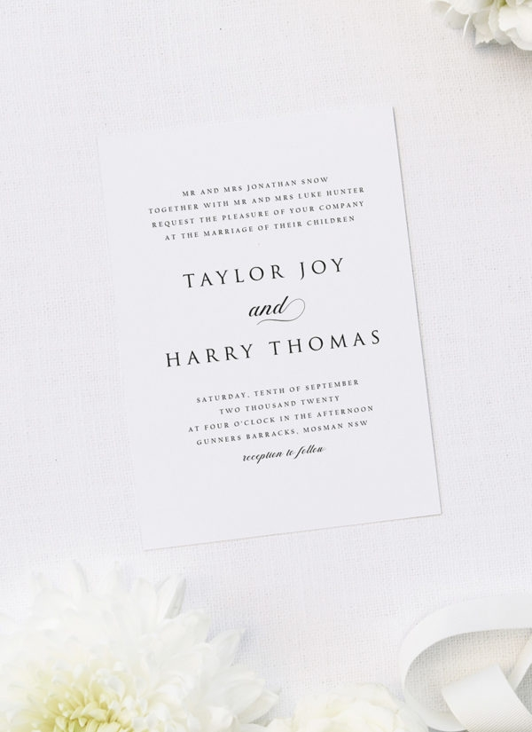 simple timeless classy wedding invitations sail and swan Wedding Invitations Classy