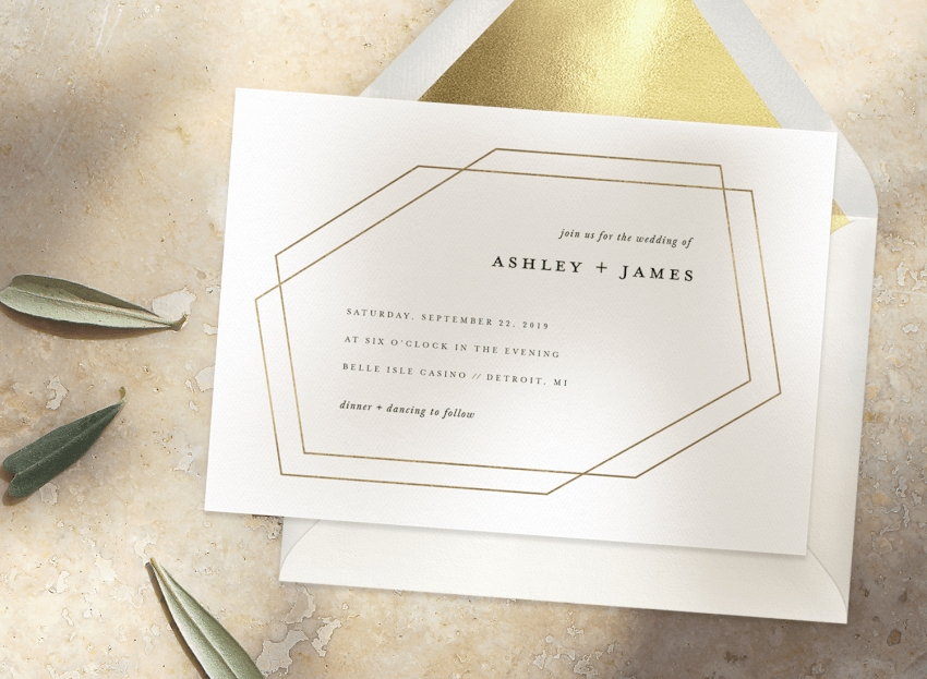 simple wedding invitations that will make you a minimalist Minimalist Wedding Invitations