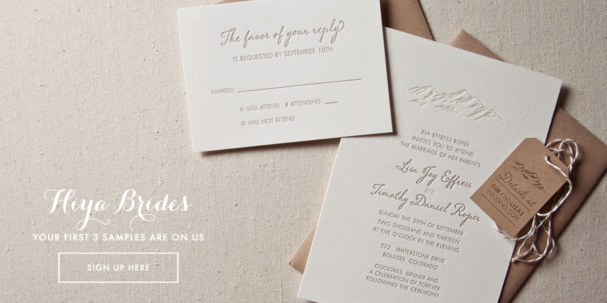 sweet letterpress design wedding invitations Best Letterpress Wedding Invitations
