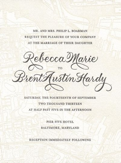 the pleasure of your company invitations lutherville Wedding Invitations Companies