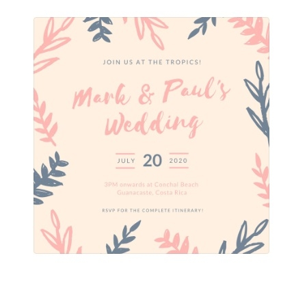the ten companies which will cater to your digital wedding E Invites Wedding