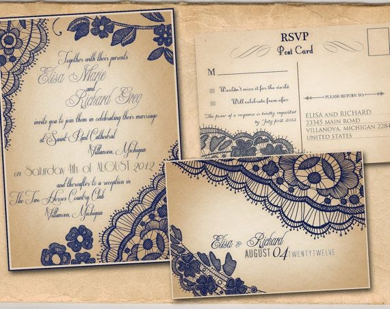 these are our vintage themed wedding invitations the colors Vintage Themed Wedding Invitations