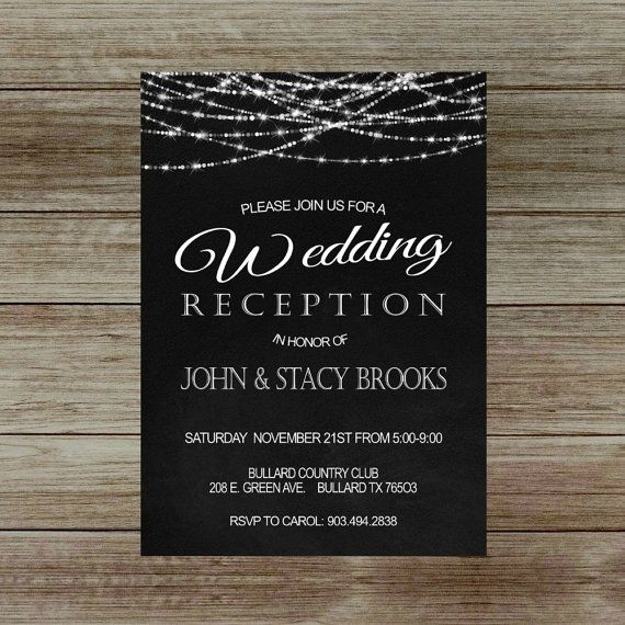 this item is unavailable reception only wedding Invitation For Reception After The Wedding