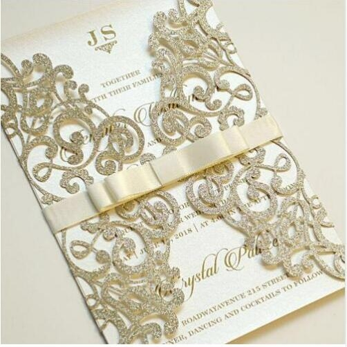 us 119 1pcs sample wedding invitations laser cutting invitation card for wedding blank inner sheet hollow birthday invitationcards for Sample Wedding Invitation Cards