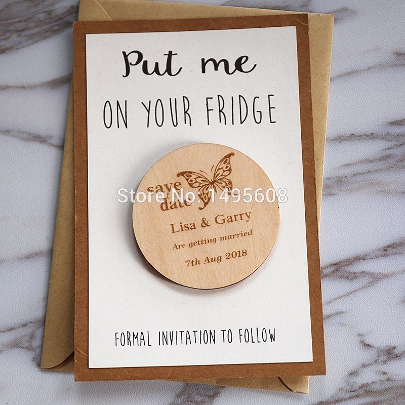 us 575 27 offbutterfly stlyes wedding save the date magnets personalized elegant wedding invitation wedding favors fridge magnetwedding Wedding Invite Magnets