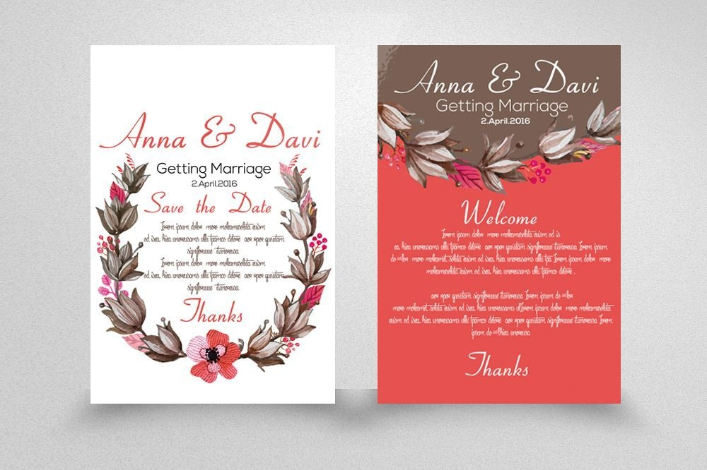 wedding double sided invitation cards wedding invitation Two Sided Wedding Invitations