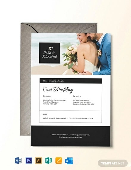 wedding invitation email template word doc psd apple Wedding Invitation Email Template
