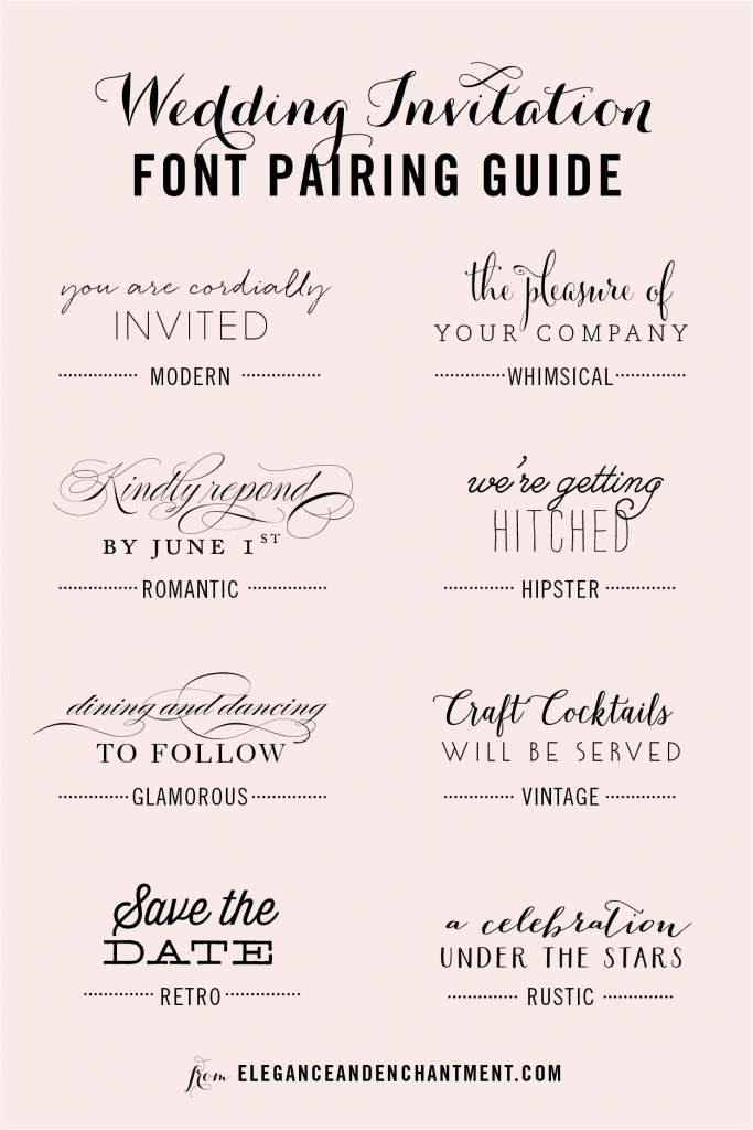 wedding invitation font pairing guide wedding invitation Font Styles For Wedding Invitations
